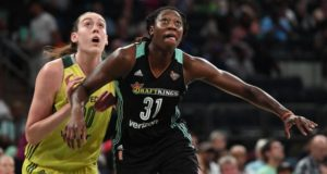 Liberty Weathers Storm, Defeat Seattle 94-86