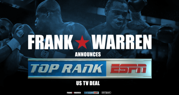 Top Rank Announces Media Partnership With Frank Warren's Queensberry Promotions