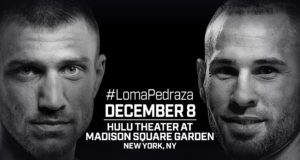 December 8: Vasiliy Lomachenko and Jose Pedraza Set for Lightweight Unification in New York City